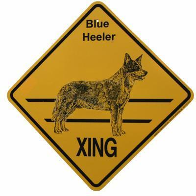 Crossing Sign Blue Heeler Xing