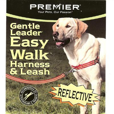 Gentle Leader Reflective EasyWalk Dog Harness/Leash Lg Red