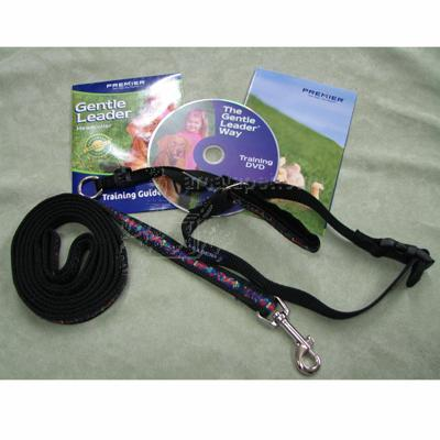 Gentle Leader Deluxe Headcollar Medium Bones on Squares Blk