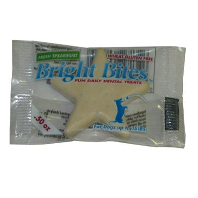 Bright Bites Spearmint Small Single Dog Dental Treat