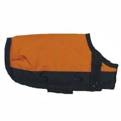 Dog Winter Blanket Coat Orange Lg