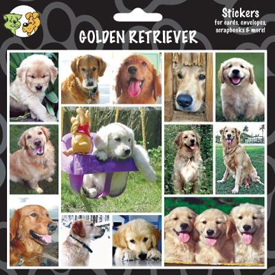 Arf Art Dog Sticker Pack Golden Retriever