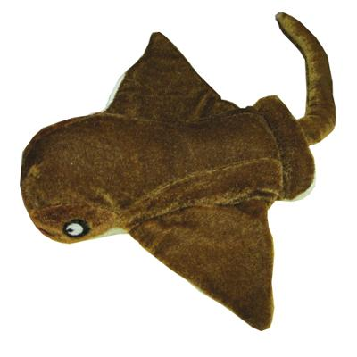 Velvet Sea Creature Sting Ray Small Dog Toy