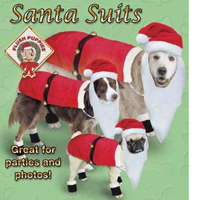 Holiday Santa Dog Suit Medium