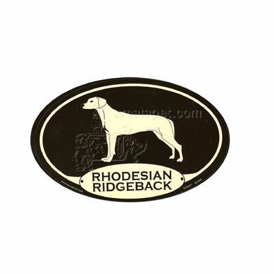 Euro Style Oval Dog Decal Rhodesian Ridgeback