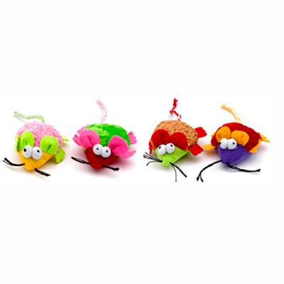 Purr-Pet Velvetine Mice 2 Pack Cat Toys