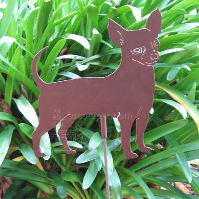 Haute Steel Garden Stake Chihuahua
