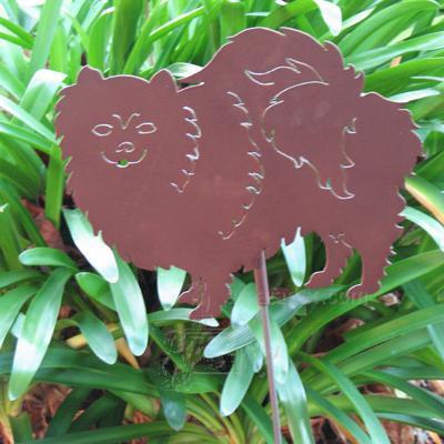 Haute Steel Garden Stake Pomeranian
