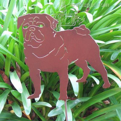 Haute Steel Garden Stake Pug