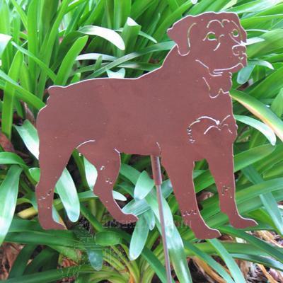 Haute Steel Garden Stake Rottweiler