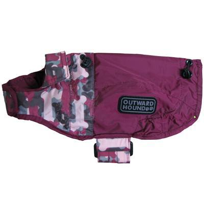 Outward Hound Dog RainCoat Beet Camo w/Bones XLg