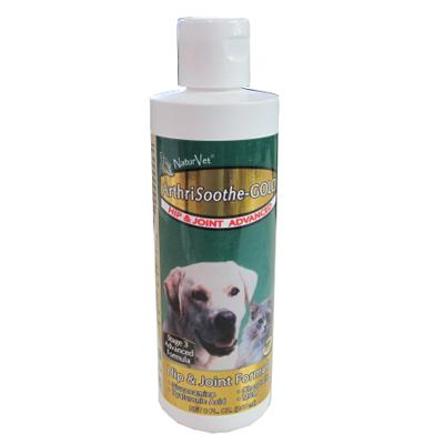 NaturVet Arthrisoothe Gold  Liquid Dog Joint Supplement  8oz