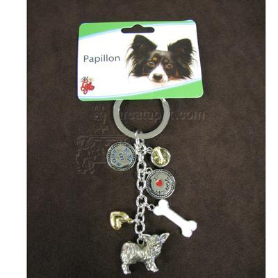 Key Chain Papillon with 5 Charms