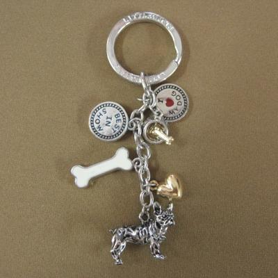 Key Chain French Bulldog with 5 Charms