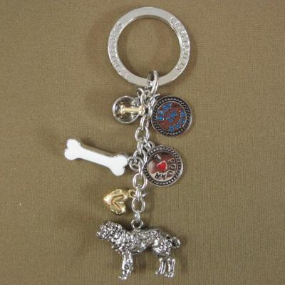 Key Chain St. Bernard with 5 Charms