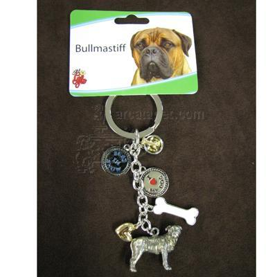 Key Chain Bull Mastiff with 5 Charms