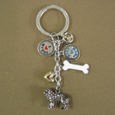 Key Chain Newfoundland with 5 Charms