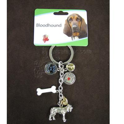 Key Chain Bloodhound with 5 Charms