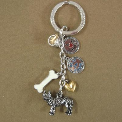 Key Chain Pit Bull Terrier with 5 Charms