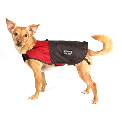 Outward Hound Dog RainCoat Red Clay with Java Brown Small