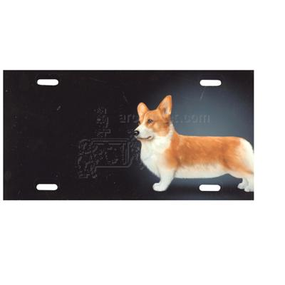 Aluminum Dog Breed License Plate with Welsh Corgi