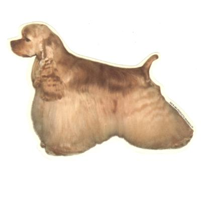 Double Sided Dog Decal American Cocker Spaniel