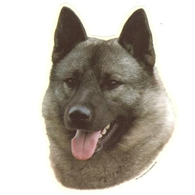 Double Sided Dog Decal Norewegian Elkhound