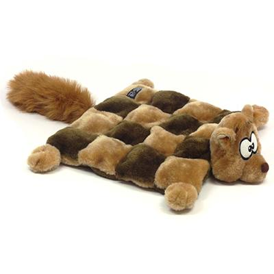 Mega Squeak Plush Puppy Squirrel Mat Large Dog Toy