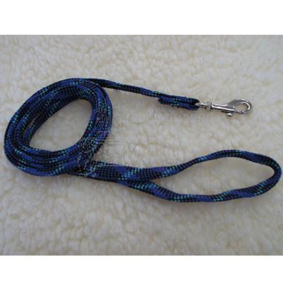 Dog Leash Reflective Web Blue 1/2-inch x 6-foot
