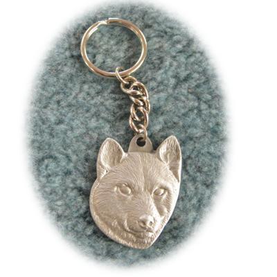 Pewter Key Chain I Love My Shiba Inu