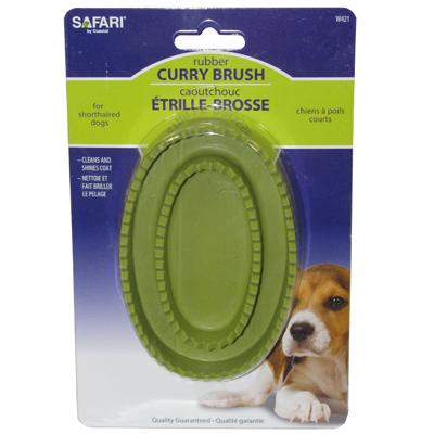 Rubber Curry Brush for Dogs