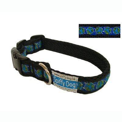 Spiffy Dog Medium Black Planets Air Collar for Dogs