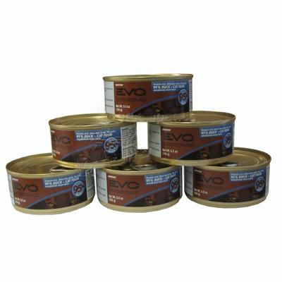 Evo 95% Duck 5.5 oz CaseCanned Cat Food