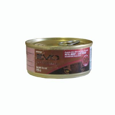 Evo 95% Beef 5.5 oz Canned Cat Food each