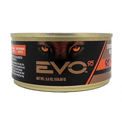 Evo 95% Chicken and Turkey 5.5oz Canned Cat Food each