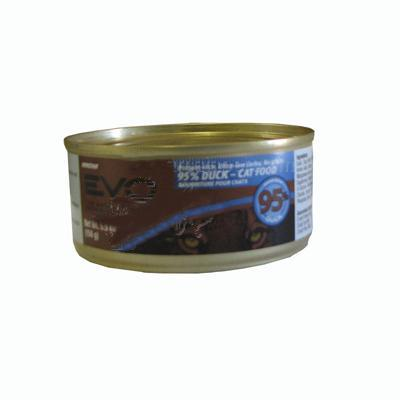 Evo 95% Duck 5.5 oz Canned Cat Food each