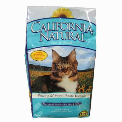California Natural Cat Food Herring & Sweet Potato 5 lb.