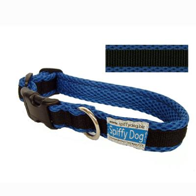 Spiffy Dog Medium Blue Black Air Collar for Dogs