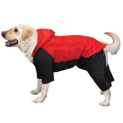 Cozy Casual Canine Snowsuit Red Large