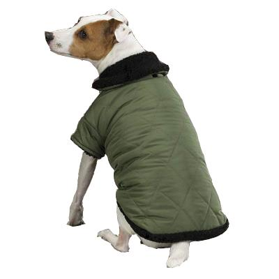 Dog Jacket Thermal Lined Chive XXSmall