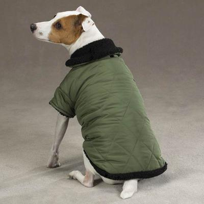 Dog Jacket Thermal Lined Chive Small