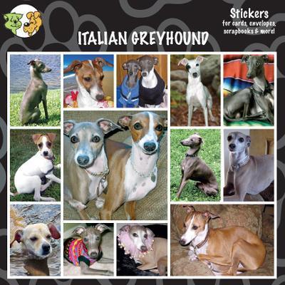 Arf Art Dog Sticker Pack Italian Greyhound