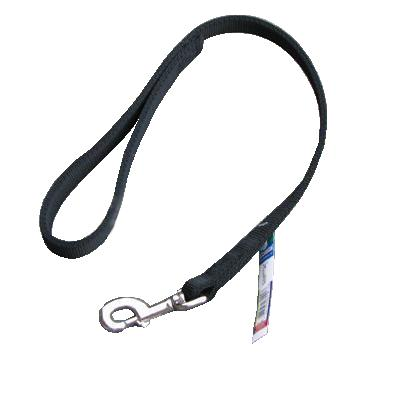 Nylon Dog Traffic Leash 1-inch x 2 foot Black
