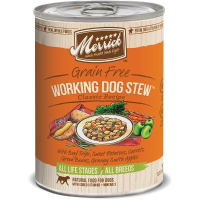 Merrick Working Dog Stew 13 oz case