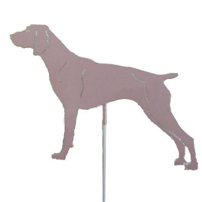 Haute Steel Garden Stake German Shorthair Pointer