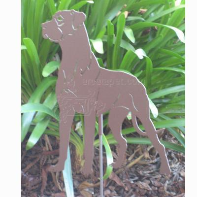 Haute Steel Garden Stake Great Dane