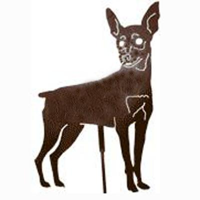 Haute Steel Garden Stake Minature Pinscher