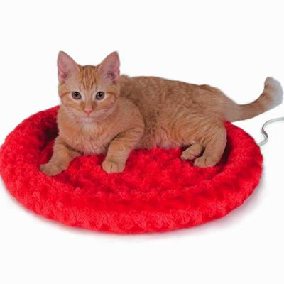 Thermo-Kitty Heated Fashion Splash Bed Red