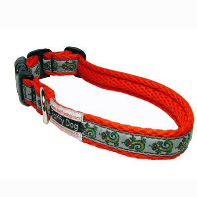 Spiffy Dog Large Red Gecko Air Collar for Dogs