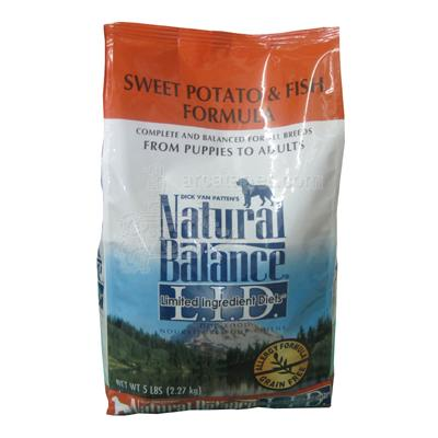 Natural Balance Sweet Potato and Fish Allergy Dog Food 5 lb.
